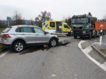 Mörschwil SG: Unfall zwischen Lastwagen und Auto