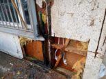St.Gallen SG - Mottbrand an Hausfassade