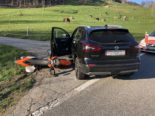 Unfall Ramiswil SO: Motorradlenker nach Kollision mit Auto verletzt