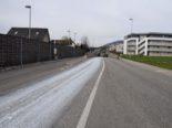 Egerkingen SO: Lastwagen verteilt Farbe auf Strasse