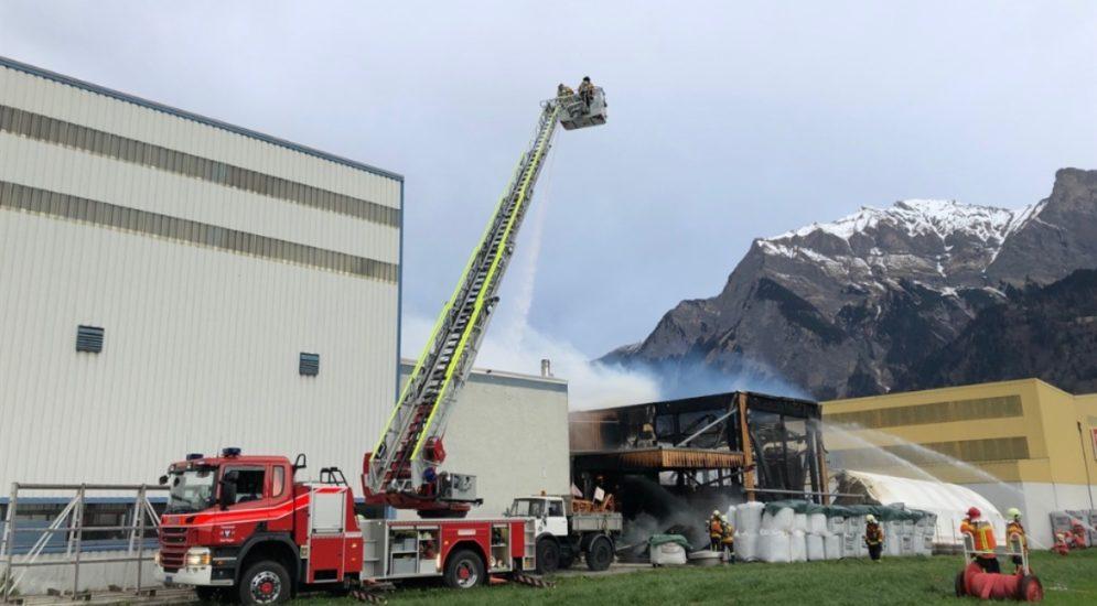 Maienfeld GR: Eine Million Franken Schaden bei Brand in Industriequartier