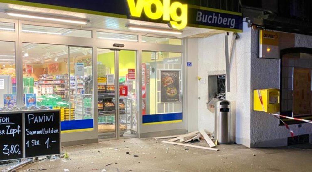 Buchberg AR: Bancomat gesprengt und zu Fuss geflüchtet