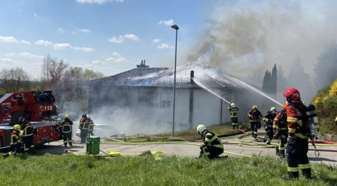 Wiedlisbach BE: Einfamilienhaus nach Brand unbewohnbar