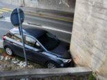 Chur GR: Bei Unfall in Mauer der Bahnunterführung gekracht
