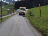 Unfall Waldstatt AR: Radfahrer verletzt nach Sturz wegen Katze