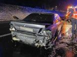 A2 Eich LU: BMW-Fahrer kommt ins Schleudern und baut Unfall
