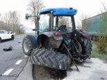 Neudorf LU - Unfall zwischen PW und Traktor