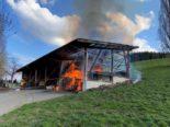 Mettmenstetten ZH: Grosser Sachschaden und ein Verletzter bei Brand