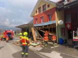 Explosion in Alt St. Johann SG: Hausfassade weggerissen - Mann schwer verletzt