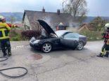Thayngen SH: Auto in Brand geraten