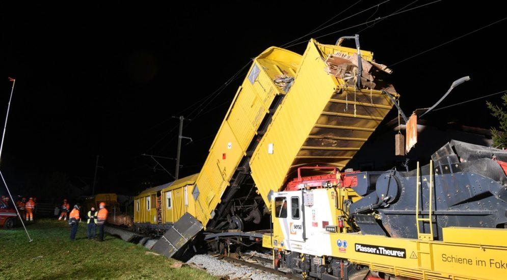 Cazis: Grosser Sachschaden bei Bahnunfall