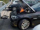 St. Margrethen SG - BMW fängt Feuer