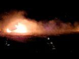 Willerzell SZ - Feuerausbruch in Schilfgürtel