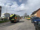 Winterthur Wülflingen ZH - Feuerwehreinsatz auf der Riedhofstrasse
