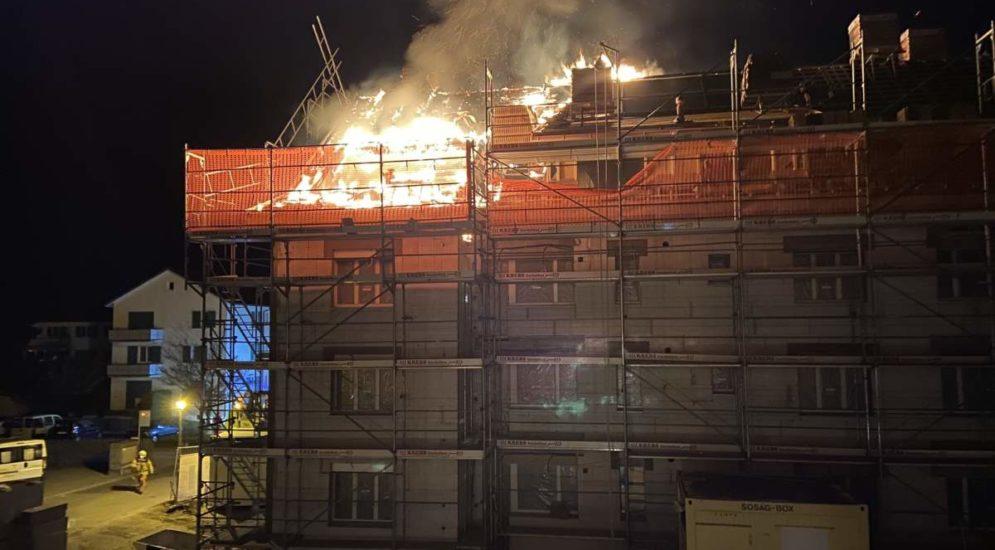 Winterthur ZH: 100.000 Franken Sachschaden nach Hausbrand