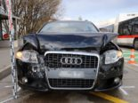 St.Gallen SG: Hoher Sachschaden nach Unfall