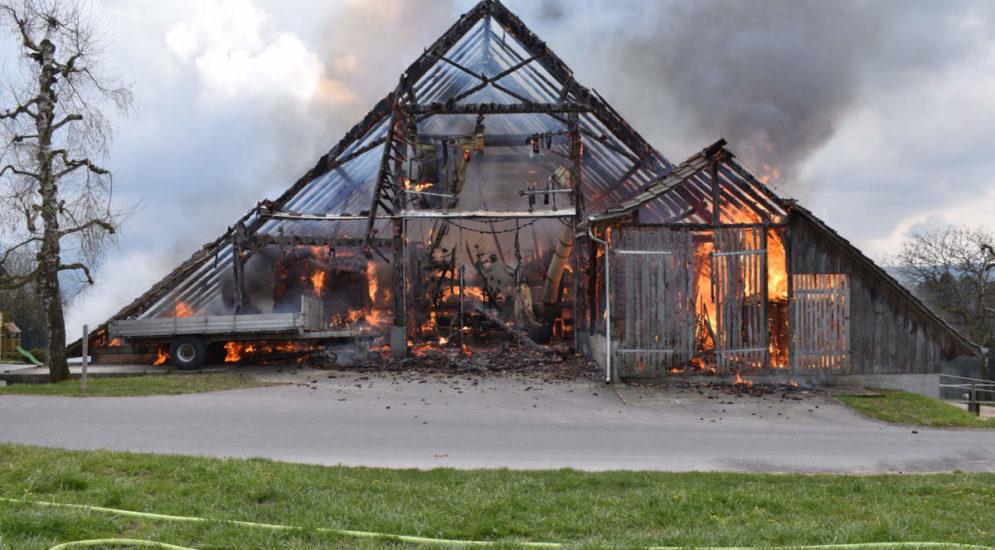 Scheunenbrand in Ruswil LU: Ursache geklärt