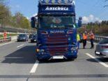 Cham: Unfall zwischen Auto und Lastwagen auf der A4