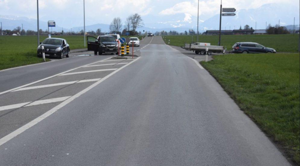 Altstätten SG - Zwei Autos bei Unfall zusammengestoßen
