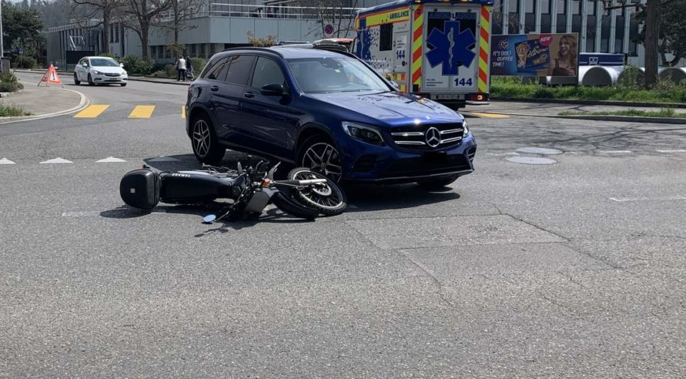 Schaffhausen SH: Motorradfahrer (40) bei Unfall verletzt