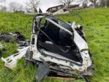 Unfall in Weggis LU: Auto rollt führerlos abfallende Wiese hinunter