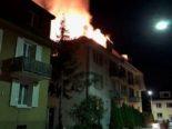 Olten SO: Zwei Verletzte nach Brand eines Dachstocks