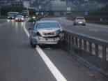 Unfall A1 Oensingen SO: Sekundenschlaf - Fahrer crasht in Leitplanke
