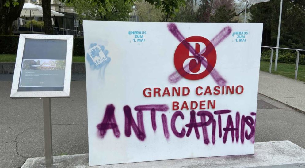 Baden AG: Beträchtlicher Schaden durch Sprayereien