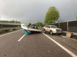 Oftringen AG: Anhänger auf der A1 gekippt