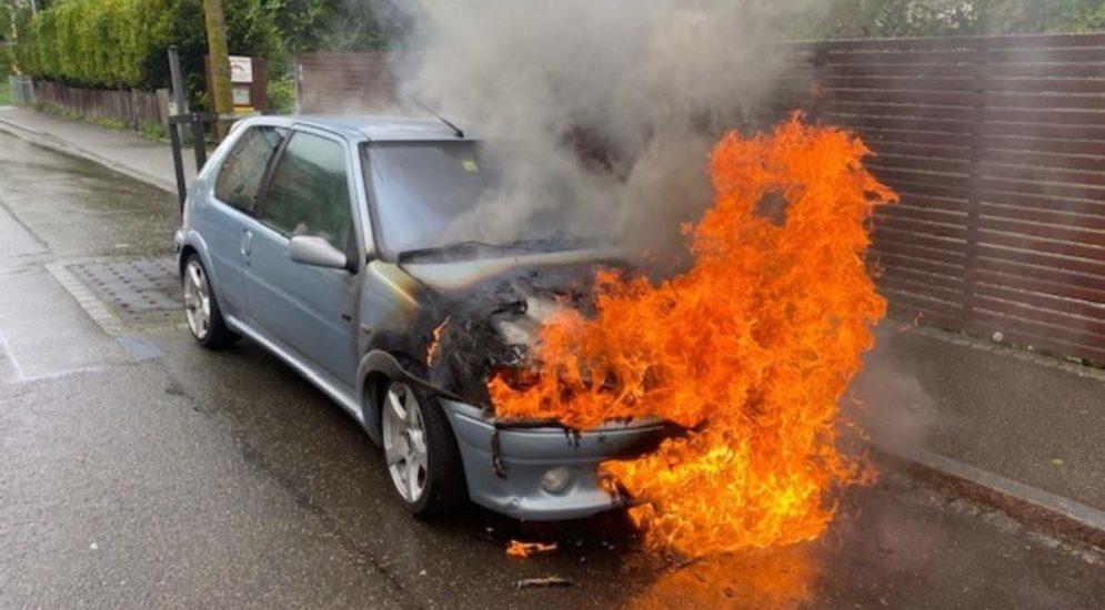 Rorschach SG - Auto in Vollbrand: Totalschaden