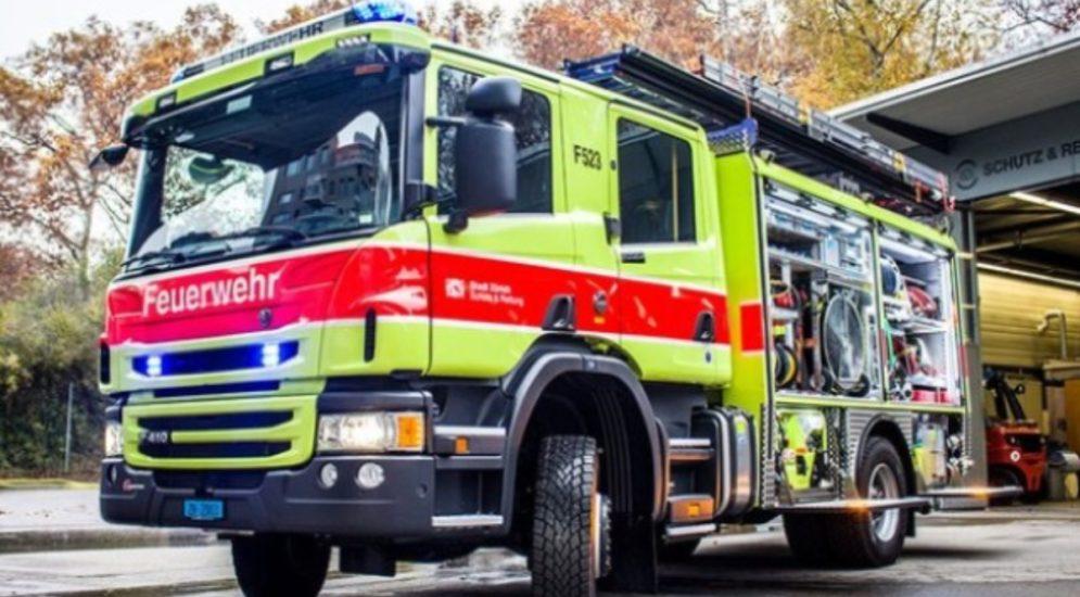 Baden AG: Wohnung in Mehrfamilienhaus gerät in Brand