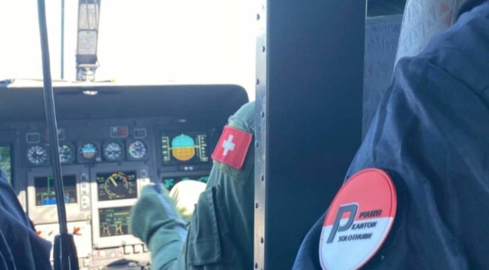 Region Olten / Dulliken SO: Helikoptereinsatz wegen vermisster Person