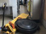 Arbeitsunfall Samedan GR - 800kg auf Fuss gefallen