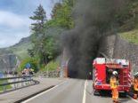 Sisikon UR: Brand nach Unfall - Axenstrasse bis auf weiteres gesperrt