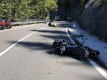 Jaunpass FR: Unfall mit drei beteiligten Motorradfahrern