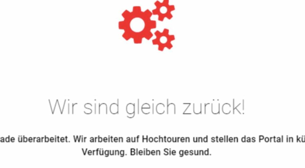 Überlastung der Impf-Website: GSI entschuldigt sich bei der Berner Bevölkerung