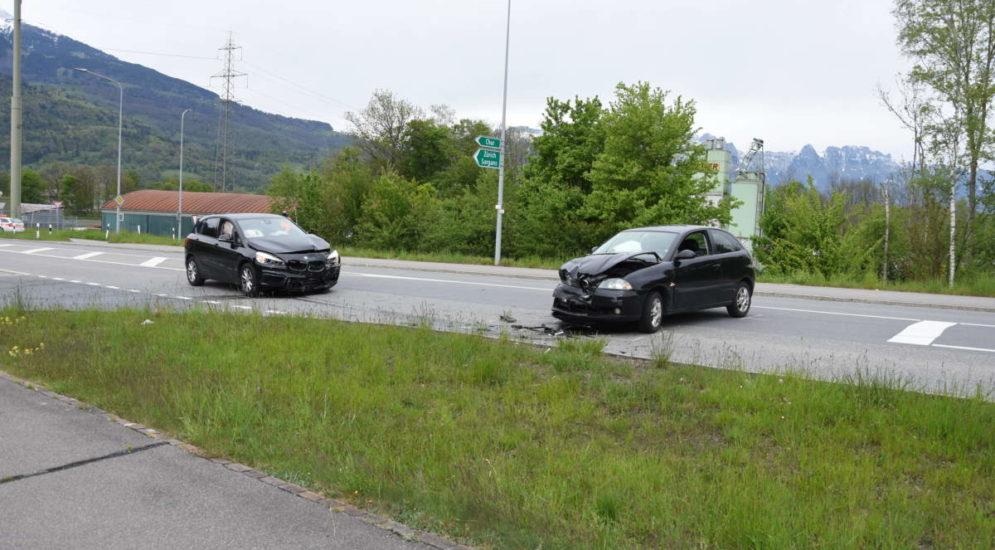 Unfall in Sevelen SG: Frontalkollision zwischen zwei Autos