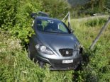 Bonaduz GR: In Kurve geradeaus gefahren und nach Unfall mit Kran geborgen
