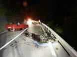 Bonaduz GR: Autofahrer (21) überschlägt sich bei heftigem Unfall