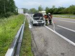 Müllheim TG: Fahrzeugbrand auf Autobahnzubringer