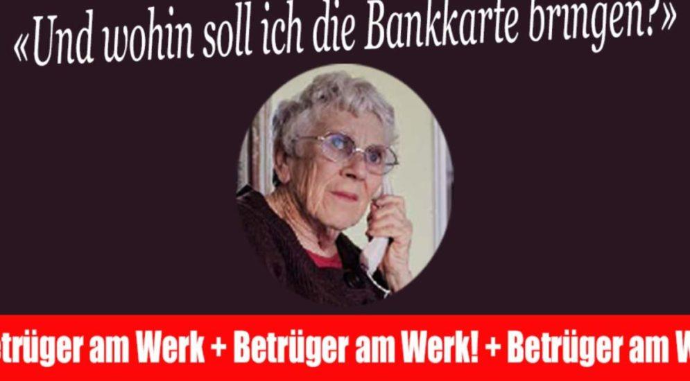 Vorsicht vor falschen Bankmitarbeitern!