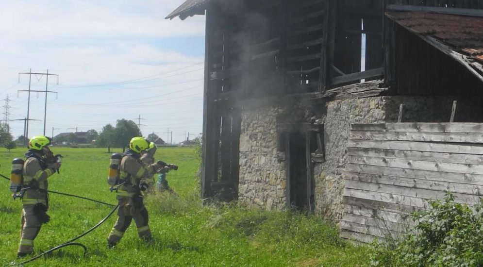 Bergwiese in Schübelbach SZ: Brand in Stall ausgebrochen