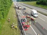 A1 Oberbüren SG: 3 Autofahrer filmen während Fahrt Feuerwehrübung