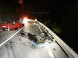 Unfall Bonaduz GR: Lenker (21) heftig mit Stützmauer kollidiert und erheblich verletzt