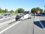 Rheineck SG: Auto überschlägt sich bei Unfall auf der A1