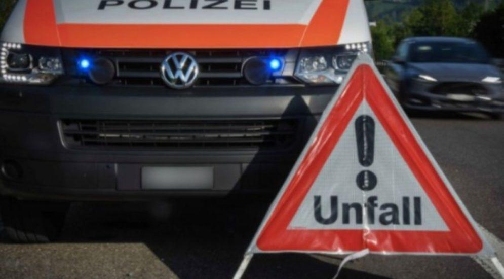 Lenzburg AG - Stau wegen Unfall auf der A1