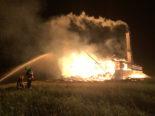Wildhaus SG: Brennende Scheune im Bereich Grossrüti
