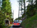 Zuoz GR: Mann stürzt von Strommasten