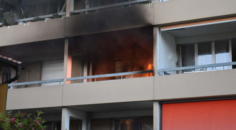 Brand in Kriens LU: Zweijähriges Kind ins Spital gebracht