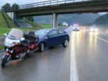 Unfall auf der A3 Mollis GL - Verletzer, Sachschaden und Rückstau